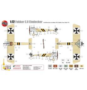 AIRFIX 01086 Myśliwiec Fokker E.II Eindecker