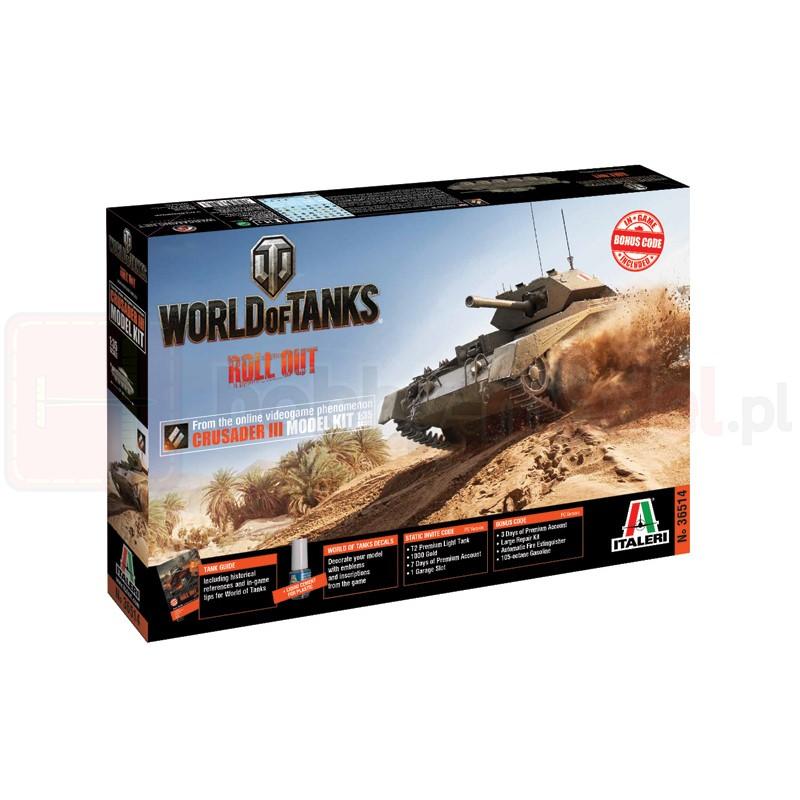 ITALERI 36514 Czołg World Of Tanks: Crusader