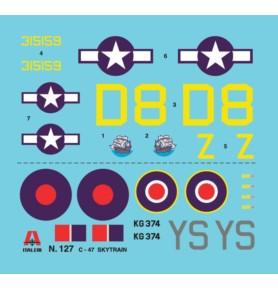 ITALERI 0127 Samolot transportowy C-47 Skytrain