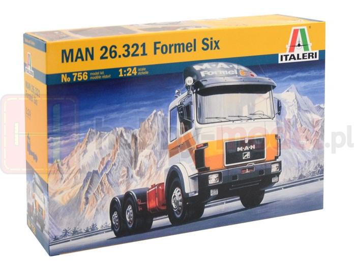 ITALERI 0756 Ciągnik siodłowy MAN 26.321 Formel Six