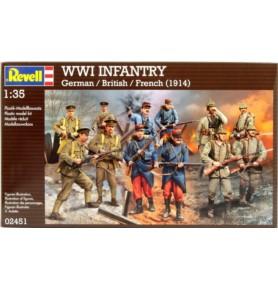 REVELL 02451 Piechota niemiecka, brytyjska, francuska z WWI