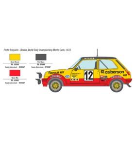 ITALERI 3652 Samochód Renault R5 Alpine Rally