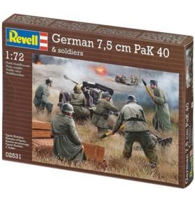 REVELL 02531 Armata przeciwpancerna 7,5 cm PaK 40 + załoga