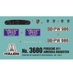 ITALERI 3680 Samochód Porsche 911 America Roadster