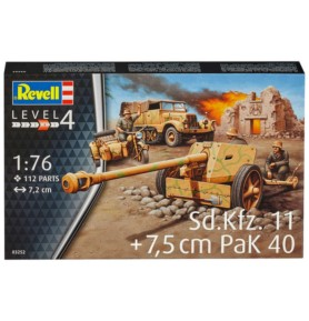 REVELL 03252 Ciągnik artyleryjski Sd.Kfz.11 + działo 7,5 cm PaK 40 (zestaw)