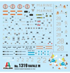 ITALERI 1319 Myśliwiec Rafale M