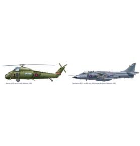 ITALERI 1329 Samolot Sea Harrier FRS.1 + Śmigłowiec Wessex UH.5 (zestaw)
