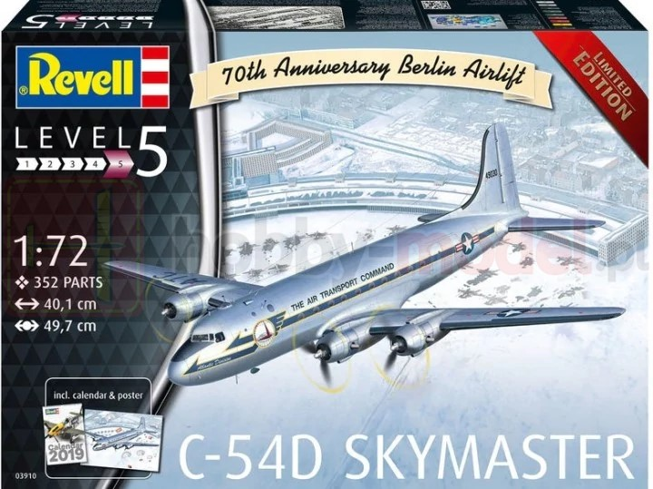 REVELL 03910 Samolot transportowy C-54D Berlin Airlift