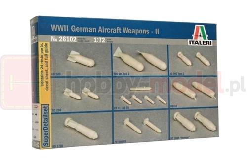 ITALERI 26102 Bomby WWII German Aircraft Weapons Set 2
