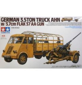 TAMIYA 32410 Samochód ciężarowy AHN + działo 3,7 cm Flak 37 (zestaw)