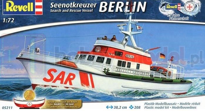 REVELL 05211 Statek ratunkowy Seenotrettungskreuzer