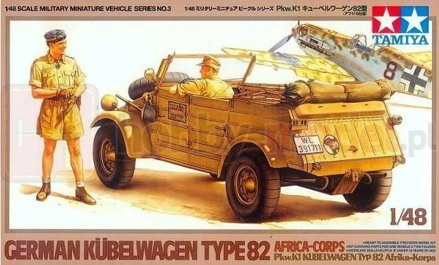 TAMIYA 32503 Samochód osobowo-terenowy Kubelwagen (Africa)