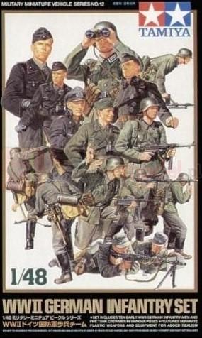TAMIYA 32512 Figurki piechoty niemieckiej