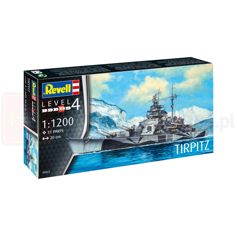 REVELL 05822 Pancernik Tirpitz