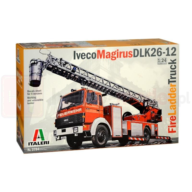 ITALERI 3784 Samochód pożarniczy Iveco-Magirus DLK 23-12