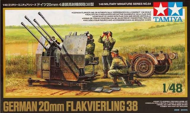 TAMIYA 32554 Przeciwlotnicze działko holowane 2cm Flakvierling 38