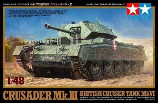 TAMIYA 32555 Brytyjski czołg Crusader Mk.III