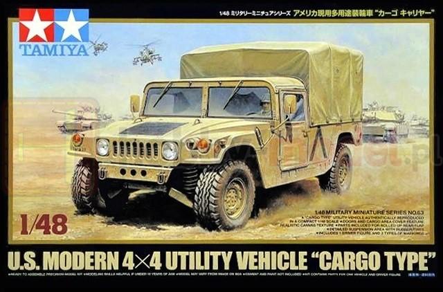 """TAMIYA 32563 Wielozadaniowy pojazd terenowy U.S. Modern 4x4 Utility Vehicle """"Cargo Type"""""""