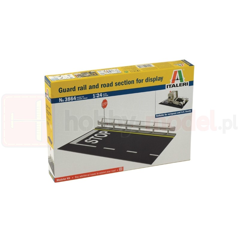 ITALERI 3864 Fragment drogi Guard Rail and Road