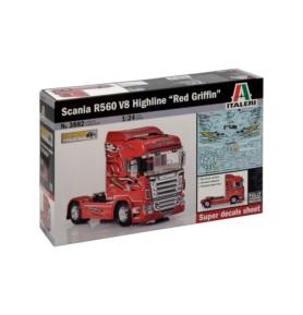 ITALERI 3882 Ciągnik Scania R560 Red G.