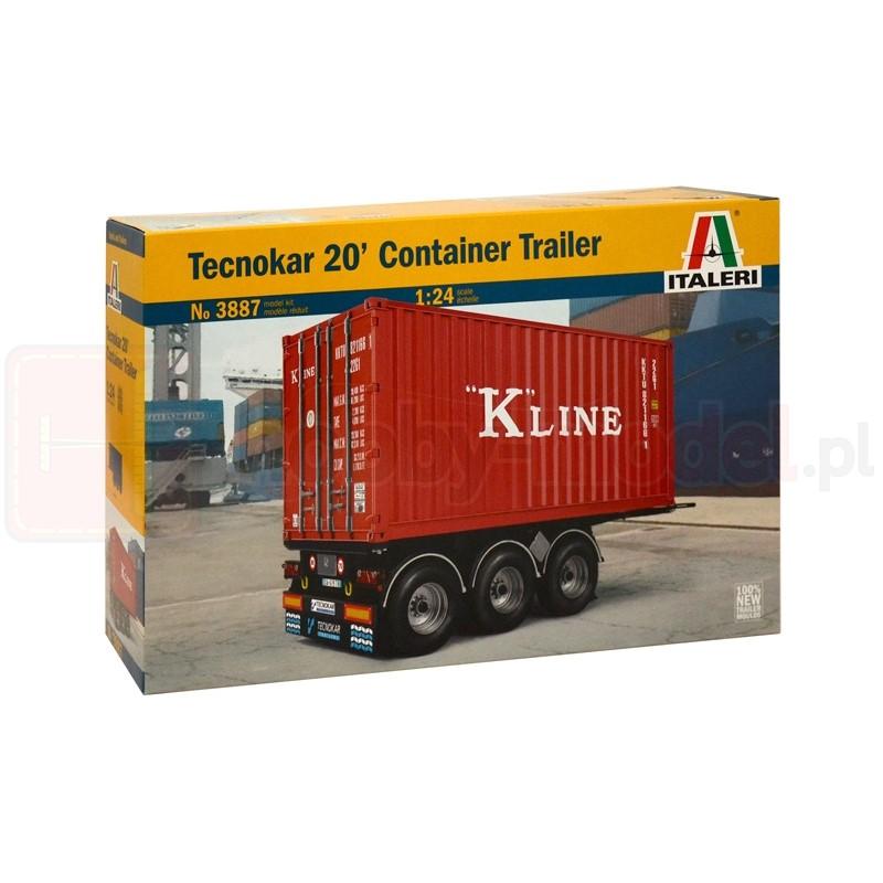 ITALERI 3887 Przyczepa Teckonar 20' Container Trailer