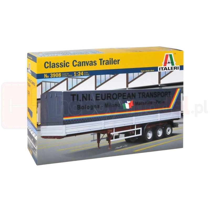 ITALERI 3908 Naczepa Canvas Trailer 40ft