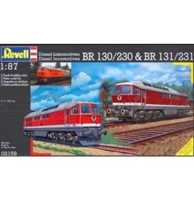 REVELL 02159 Lokomotywy spalinowo-elektryczne BR 130/2360 & BR 131/231 (zestaw)