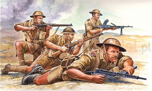 ITALERI 6077 Figurki Brytyjska 8 Armia WWII