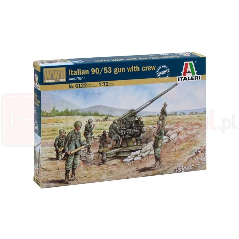 ITALERI 6122 Figurki Włoskie działo przeciwlotnicze