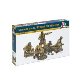 ITALERI 6490 Działo Cannoe da 47/32 Mod. 39
