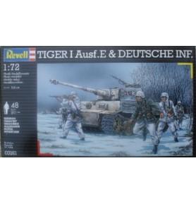 REVELL 03161 Czołg niemiecki Tiger I & Infanty (zestaw)