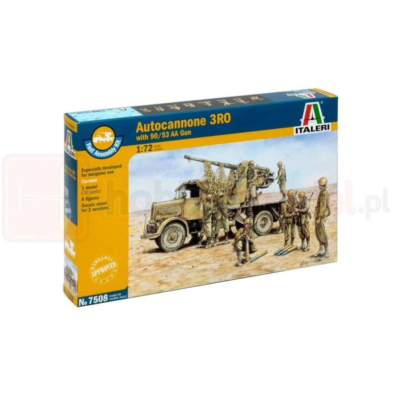 ITALERI 7508 Pojazd Autocannone RO3 with 90/53 AA Gun