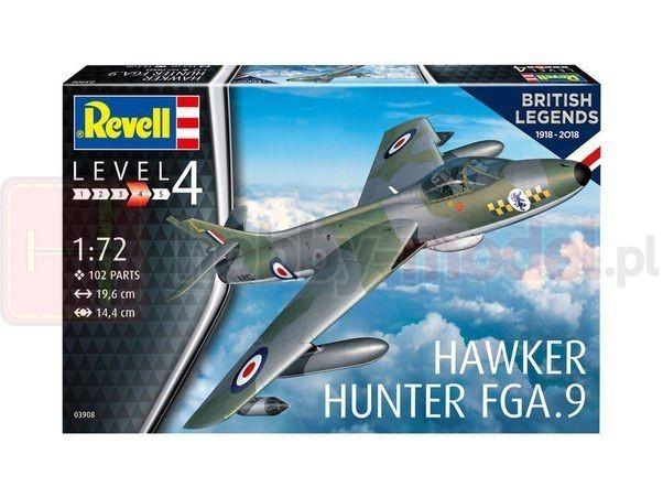 REVELL 03908 Myśliwiec Hawker Hunter FGA.9