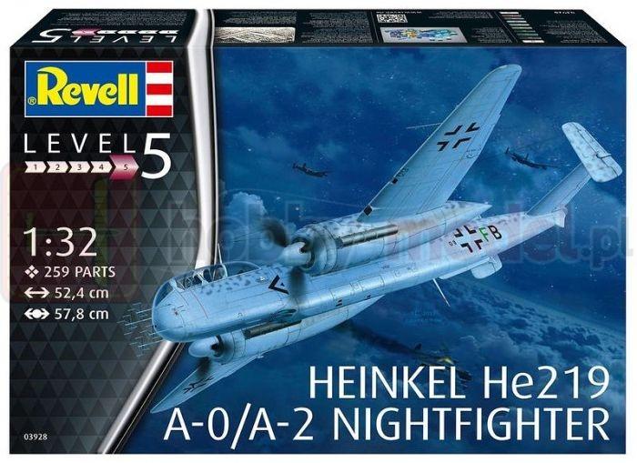 REVELL 03928 Nocny myśliwiec Heinkel He219 A-0 Nightfighter