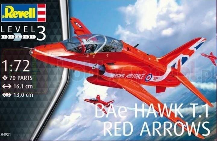 REVELL 04921 Lekki myśliwiec Bae Hawk T1
