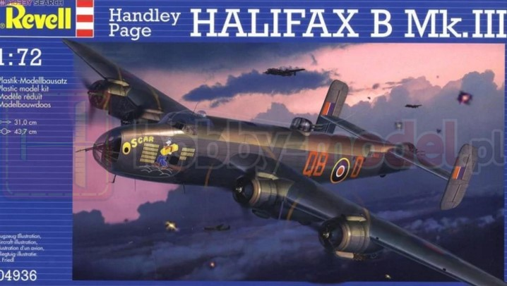 REVELL 04936 Bombowiec Handley Page Halifax Mk. III