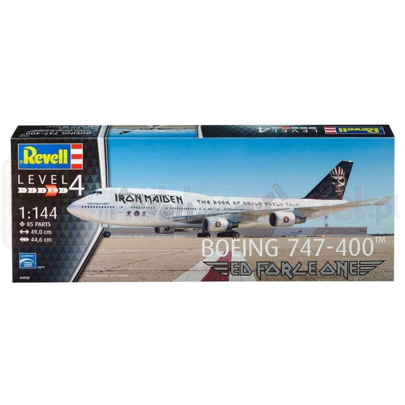 REVELL 04950 Samolot pasażerskiBoeing 747-400 Ed Force One Iron Maiden