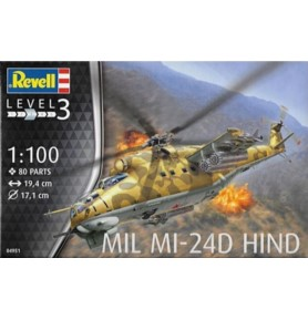 REVELL 04951 Śmigłowiec Mil Mi-24D Hind