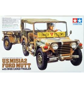 TAMIYA 35130 M151A2 Pojazd Ford Mutt w/M416 Cargo trailer