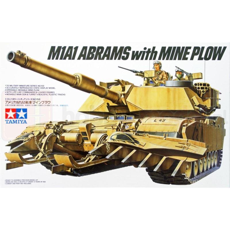 TAMIYA 35158 Czołg M1A1 Abrams w/Mine Plow