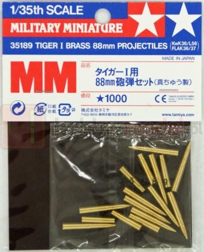 TAMIYA 35189 Akcesoria Tiger I Mosiężne pociski 88 mm