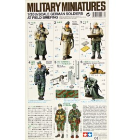 TAMIYA 35212 Figurki Niemieccy żołnierze na odprawie polowej