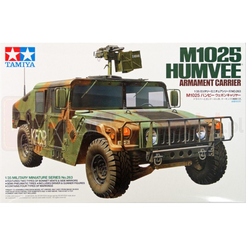 TAMIYA 35263 Pojazd M1025 Humvee z uzbrojeniem