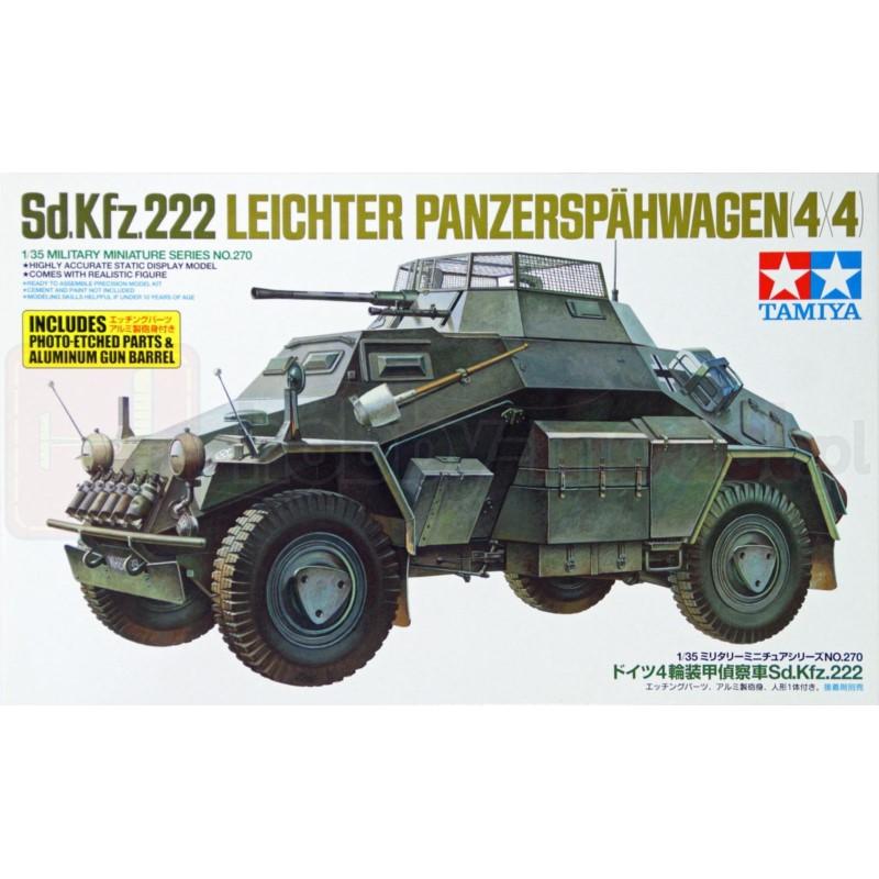 TAMIYA 35270 Pojazd Sd.Kfz.222 z elementami fototrawionymi