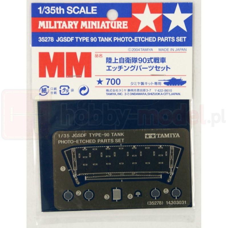 TAMIYA 35278 Akcesoria JGSDF Typ 90 - elementy fototrawione