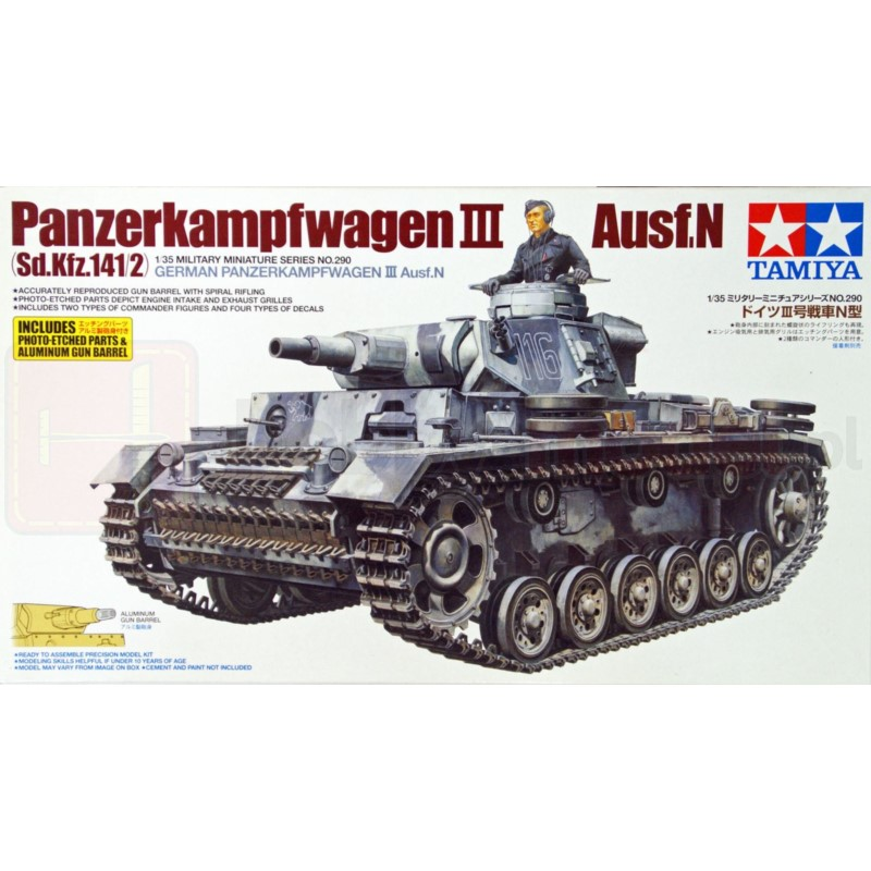 TAMIYA 35290 Czołg Panzerkampfwagen III Ausf. N