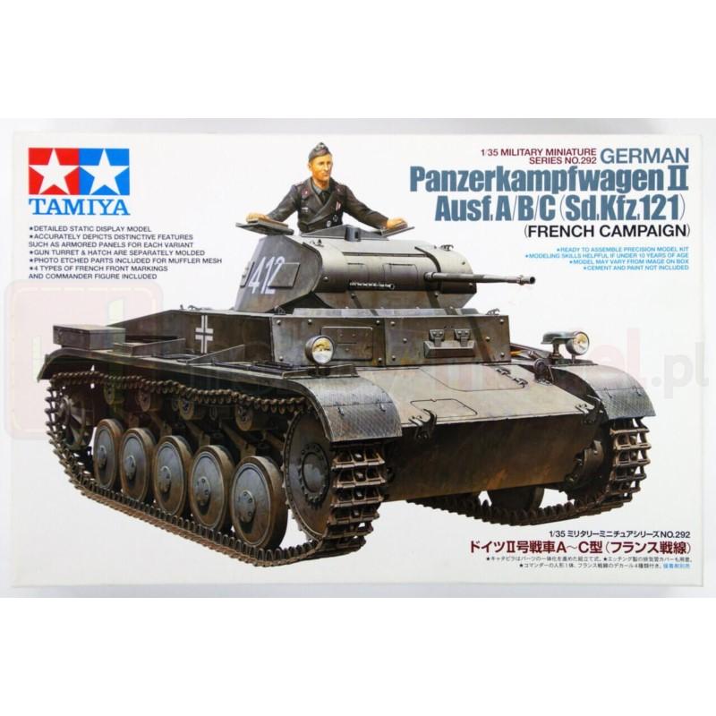 TAMIYA 35292 Czołg Panzerkampfwagen II Ausf. A/B/C
