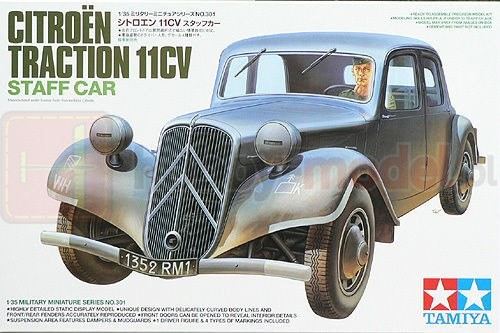 TAMIYA 35301 Samochód Citroen Traction 11CV Staff Car