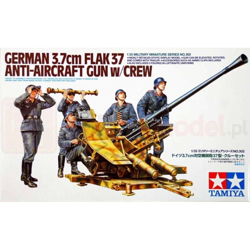 TAMIYA 35302 Działo 3,7 cm FlaK37
