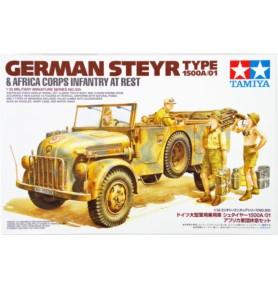 TAMIYA 35305 Pojazd Steyr Type 1500A/01 z figurkami